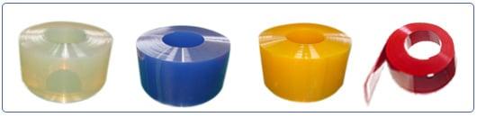 גליל PVC בצבע שקוף צהוב