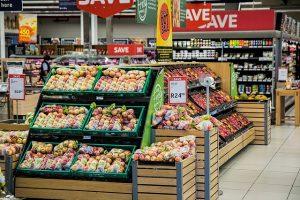 ציוד לסופרמרקט במחלקת ירקות